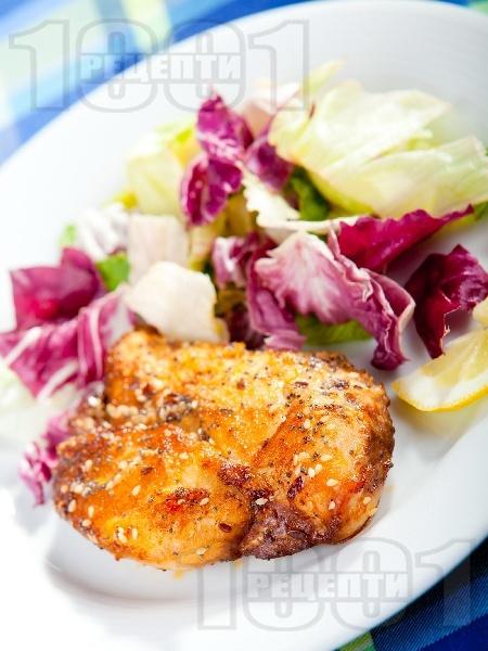 Пилешко със соев сос, мак и сусам - снимка на рецептата
